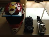 Fox V1 motor cycle helmet