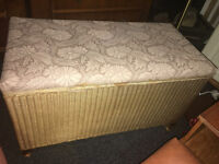 Lovely Original Lusty Lloyd Loom Ottoman/Blanket Box