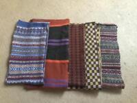 100% Wool scarves