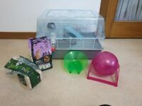 Large hamster/mice cage with accessories