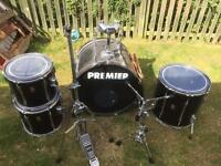 Premier drum kit-black