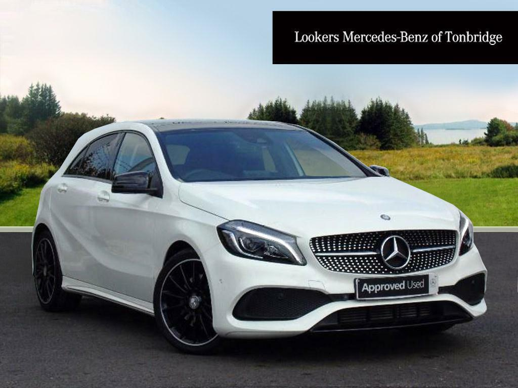 mercedes benz a class a 220 d amg line premium white. Black Bedroom Furniture Sets. Home Design Ideas