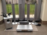 Home Theatre 5.1 Sound Surround System. Panasonic SC-HT07. Silver. all accessories + manual.