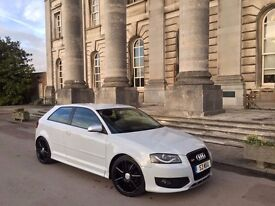 Stunning Audi A3 with S3 Kit in White 2.0 Fsi 6 Speed Full Leather Bose 6 Disc Changer - PX WELCOME