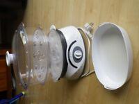 2 bowls food steamer