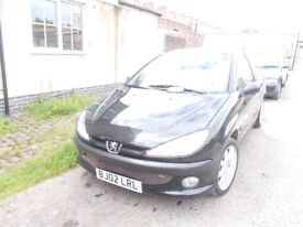 tidy for age peugeot 206 HDI D TURBO black central locking electric windows drive away today