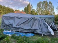 Large Clarke instant garage car tent storage storm damaged