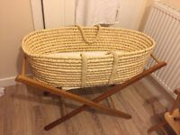 """""""Moses"""" Bassinet in Perfect Condition with Stand and Mattress"""