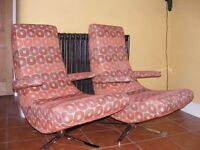 Pair of designer FAMA Swivel Chairs
