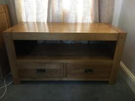 Solid Oak TV cabinet (smoke free home)