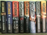 Clive Cussler Hard Back Books X 8. All in VGC. All kept in smoke Free Environment.