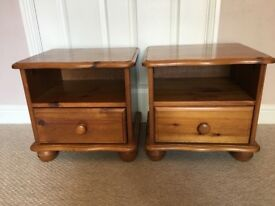 Pair of pine bedside units