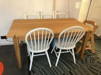 Extending dining table solid wood oak from Next