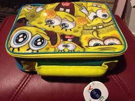 Sponge bob lunch bag (new)