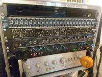 Studio Kit! Samson S-Patch Bay | Drawmer DL241 Compressor | Alesis Headphone Amp | Shure SM57 | Rack