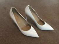 Brand new white red bottoms Christian Louboutin heels in box