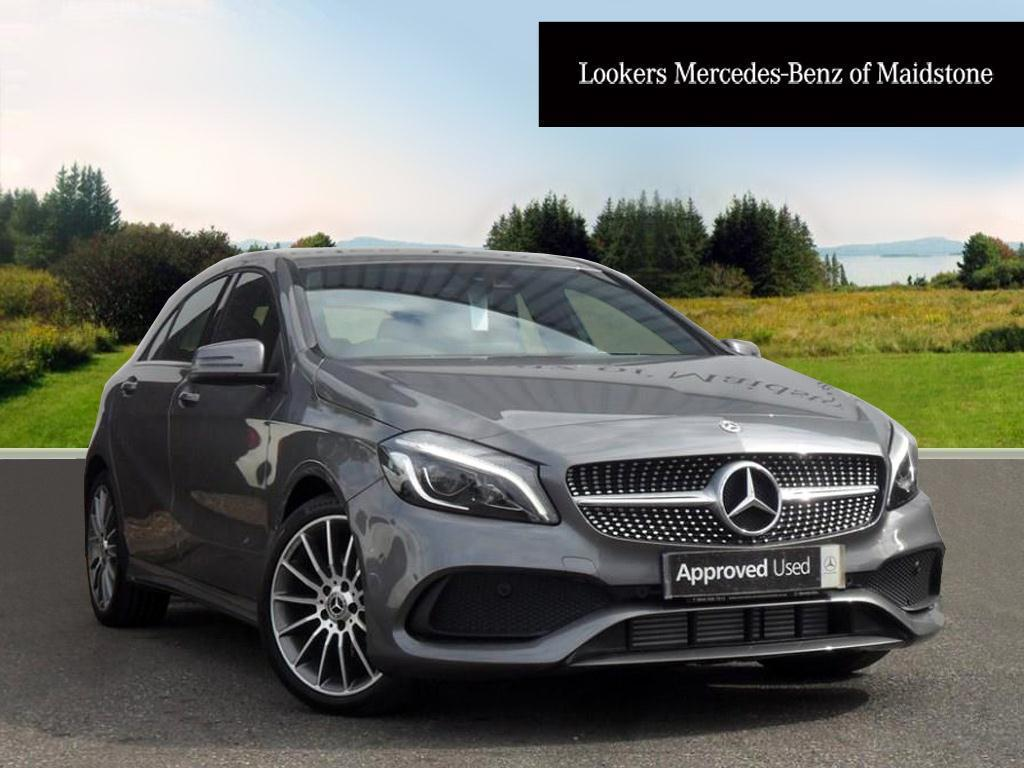 mercedes benz a class a 180 d amg line premium grey 2017. Black Bedroom Furniture Sets. Home Design Ideas