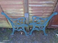 cast iron bench ends in very good condition, project