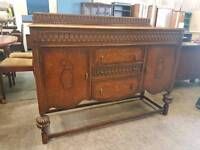 Large vintage wooden sideboard