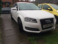 Audi A3 Technik 3 Door, 1.6, White - S-line decals and tinted windows as standard, alloy wheels