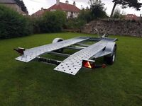 NEW CARS TRAILER RECOVERY TRANSPORTER SINGLE AXLE £1650 inc vat