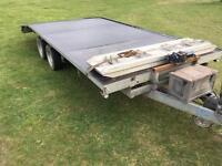 Indespention 16ft beavertail trailer