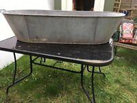 Reclaimed vintage Tin Bath
