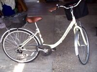 as new ladies or gents step threw frame 24 inch wheels shopping bicycle