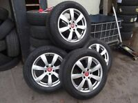 "set of 17"" HONDA ALLOYS 5 STUD FITS HRV CRV FRV or most jap cars new 225 60 17 hankooks all round"