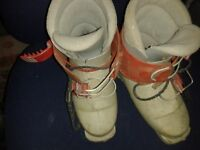 Two Pairs of old Kids Ski Boots