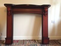 FOR SALE - Mahogany Wood Fire Surround