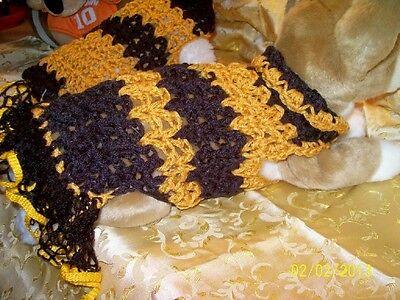 Dog Apparel BLACK & GOLD Sports Dress w/RUFFLES S