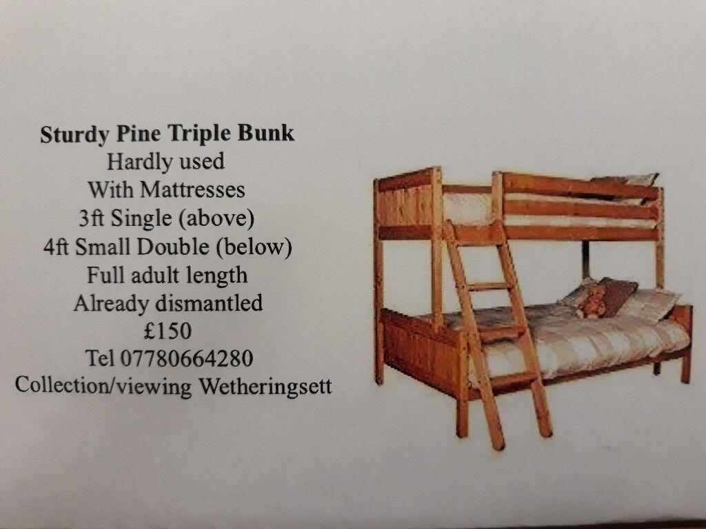 f502ada4ae7f Pine Triple Bunk Bed   in Stowmarket, Suffolk   Gumtree