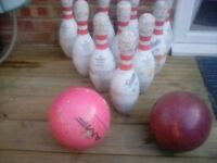 Skittles and bowling balls