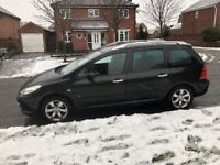 2007 peugeot 307 hdi diesel 7 seater estate car, very economical estate car. £30 tax, long mot.