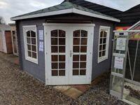 Ex Display log cabins, sheds, summerhouses, workshops- 50% off RRP Customer Collection