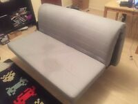 Ikea LYCKSELE Double Futon Sofa Bed Frame & LOVAS Mattress