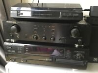 AMP & CD PLAYER & RECORD PLAYER