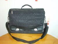 Messenger Style Laptop Bag - Black