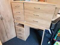6 piece walnut effect bedroom furniture