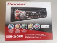 Car stereo Pioneer DEH-2600UI used for 2 months only. With box and instruction book.