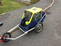 Smokey Joe fold flat bicycle trailer / child carrier full working order