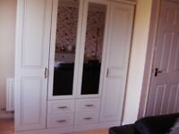 4 Door Mirrored Wardrobes.