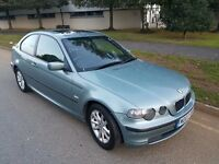 BMW 3 Series 1.8 316ti ES Compact 3dr, 1 YEAR MOT, HPI CLEAR, WARRANTED MILEAGE