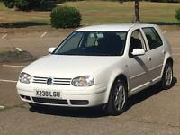 2001 VW GOLF RARE WHITE 2.3 V5 170 REMAPPED EXHAUST MODIFIED VOLKSWAGEN SOUNDS AND LOOKS GOOD