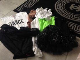 Mixture of girls dance wear