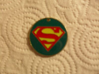 Superman vintage metal and enamel pendant (dated 1944 on the back).