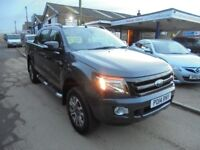 2014 14 ford ranger 3.2 tdci wildtrak double cab 6 speed manual, 37,000 miles, 2 owners, NO VAT.