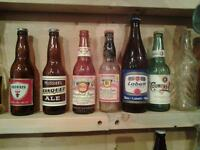 Large collection of antique beer bottle