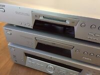 Sony FM Stereo/AM Receiver STR-DE475, working Amp, CD and mini disc decks, good working condition